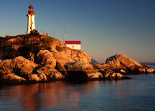 Point Atkinson lighthouse, West Vancouver Royalty Free Stock Photo
