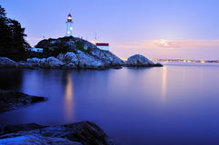 Point atkinson lighthouse, west Vancouver Royalty Free Stock Images