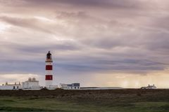 Point of Ayre Lighthouse on the Isle of Man Stock Image