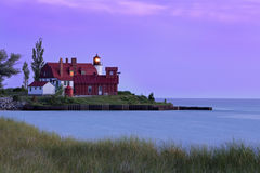 Point Betsie Light at Sundown Stock Photos