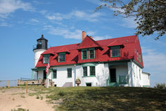 Point Betsie Lighthouse. Lake Michigan Royalty Free Stock Photography