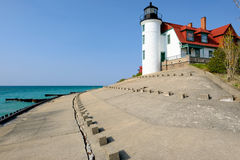 Point Betsie Lighthouse, built in 1858 Royalty Free Stock Photo