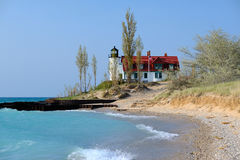 Point Betsie Lighthouse, built in 1858 Royalty Free Stock Photography