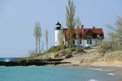 Point Betsie Lighthouse, built in 1858 Royalty Free Stock Images