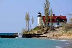 Point Betsie Lighthouse, built in 1858 Royalty Free Stock Image