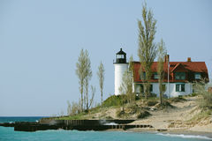 Point Betsie Lighthouse, built in 1858 Royalty Free Stock Photos