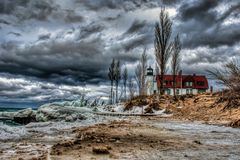 Point Betsie Lighthouse Stock Image