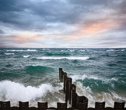 Point Betsie Seawall Royalty Free Stock Images