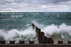 Point Betsie Seawall Royalty Free Stock Photography