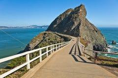 Point Bonita, l'océan pacifique, la Californie Image libre de droits