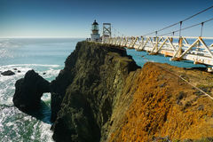 Point Bonita Lighthouse. At the entrance of San Francisco bay royalty free stock images