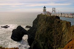 Point bonita lighthouse. In marin headlands stock images