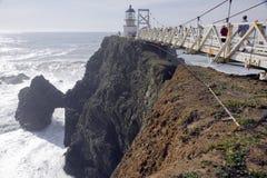 Point Bonita lighthouse bridge. Bridge that leads to the Point Bonita lighthouse in California royalty free stock photo