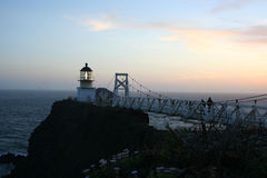 Point Bonita Lighthouse, CA. Point Bonita Lighthouse, San Francisco Bay, CA. Taken at dusk stock image