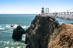 Point Bonita Lighthouse, California. San Francisco,California,USA - June 8, 2015 : View of Point Bonita Lighthouse royalty free stock photo
