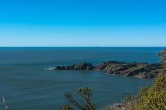 Point Bonita Lighthouse, California. View of the coast along Point Bonita in Marin County stock image