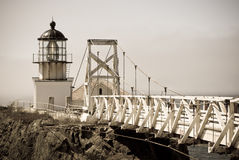 Point bonita lighthouse san francisco - antique. Point Bonita Lighthouse in San Francisco Golden Gate Park, antique royalty free stock photography