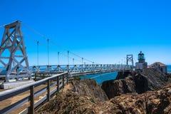 Point Bonita Lighthouse, San Francisco Bay stock image