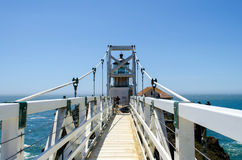 Point Bonita Lighthouse. Suspension bridge to Point Bonita Lighthouse in Marin Headlands, Golden Gate National Recreation Area, San Francisco, California stock photo