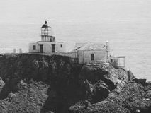 Point Bonita Lighthouse. The Point Bonita Lighthouse, which guards the entrance to San Francisco Bay, in northern California, has occupied this spot for 138 royalty free stock image
