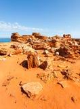 Point Broome de Gantheaume dans l'Australie occidentale Photo stock