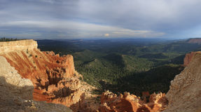 Point Bryce Canyon National Park de Yovimpa Photo stock