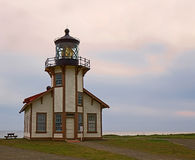 Point Cabrillo Lighthouse. Mendocino, California Royalty Free Stock Photo