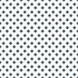 Point carré de diamant sur le modèle sans couture de vecteur blanc Images libres de droits