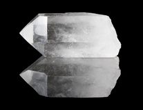 Point clair de cristal de quartz Images libres de droits