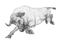 Point cloud bull Stock Image