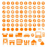 Point coins and currency icon set Royalty Free Stock Photography