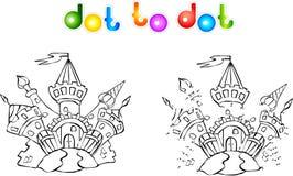 Point coloré drôle de château à pointiller illustration stock
