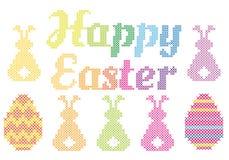 Point croisé heureux de Pâques, vecteur Photo stock