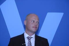POINT CULMINANT DE BUDGET DE PARTIE DE DENMARK_VENSTRE-LIBERAL Photos stock