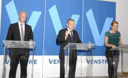 POINT CULMINANT DE BUDGET DE PARTIE DE DENMARK_VENSTRE-LIBERAL Images stock