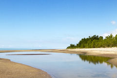 Point d'â de plage long Photos libres de droits