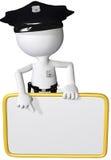Point d'agent de sécurité de police à l'espace de copie de signe Images stock
