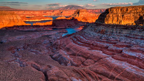 Point d'Alstrom, lac Powell, page, Arizona, Etats-Unis Images stock