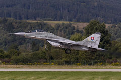 Point d'appui MiG-29 slovaque Photo stock