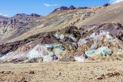 Point d'artistes le long de la commande d'artistes, Death Valley Photo stock