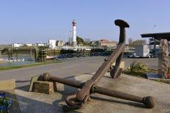 Point d'attache marin chez Ouistreham en France Photos libres de droits