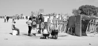 Point d'eau dans le taudis de Mondesa Photo libre de droits