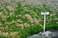 Point d'inspiration dans Skagway Alaska Images libres de droits