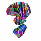 point d'interrogation 3D coloré d'isolement Photographie stock