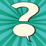Point d'interrogation de bulle de bande dessinée illustration stock