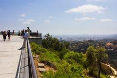 Point d'observation de colline Images stock