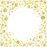 Point d'or rond Image stock
