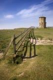 Point de boussole près de Bude sur la côte du nord des Cornouailles Images libres de droits