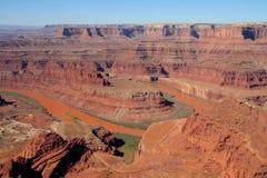 Point de cheval mort, Utah photographie stock libre de droits