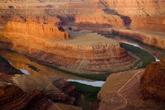 Point de cheval mort, Utah Photo stock